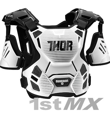 Thor Guardian Motocross Off Road Chest Protector Armour White Kid XXSmall XSmall