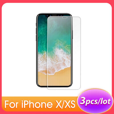 For iPhone X XS 5.8Inch Phone Protective Tempered Glass Screen Protector T9R5