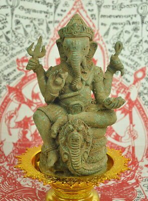 Antique India Ganesh Elephant God Hinduism Angkor Wat Ganesha Statue Figure Rare