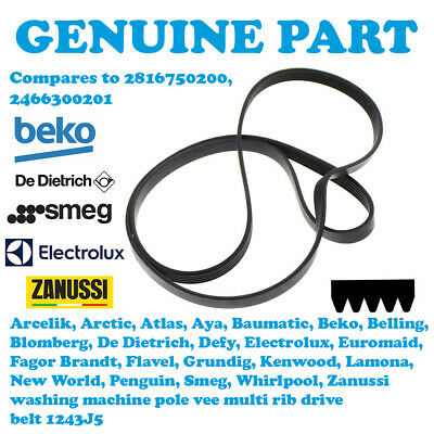 Hotpoint WDD960AUK Poly Vee Washing Machine Drive Belt FREE DELIVERY