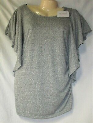 Women's Gray Maternity Pullover Top Size Small Batwing Sleeve NWT