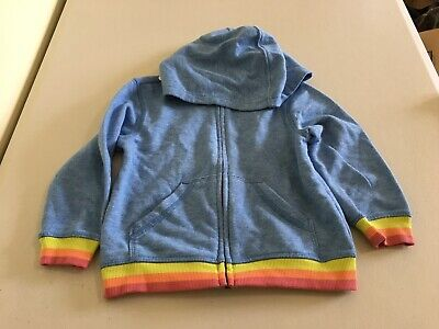 NEW Boys Size 3T Gymboree Sweatshirt Hoodie 2018 Line Blue Whi Tie Dye Look NWT