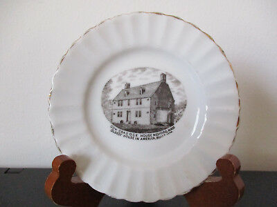 Circa 1910 Souvenir Dish Cradock Peter Tufts House Medford Massachusetts
