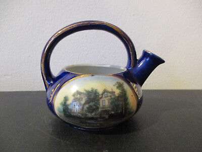Circa 1910 Souvenir Porcelain Teapot The Marcy House Onsit Massachusetts *