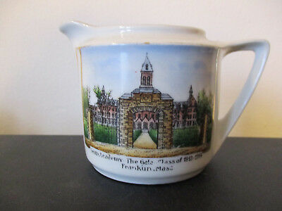 Circa 1915 Souvenir Creamer Dean Academy The Gate  Franklin Massachusetts *
