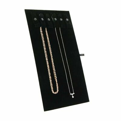 "4 Black Chain Necklace Bracelet Easels Jewelry Display with 6 Snaps 14 1/8""H"