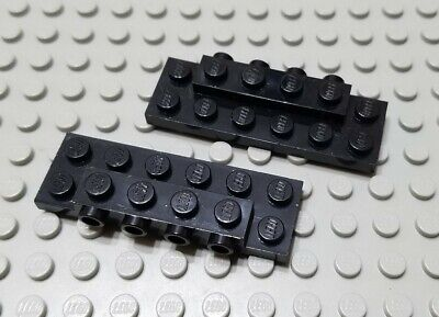 LEGO Lot of 2 Black 2x6x 2//3 Plate Pieces with 4 Side Studs