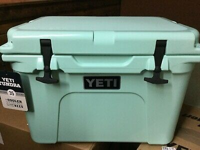 YETI TUNDRA 35 Hard Cooler~GREAT GIFT~BRAND NEW~FREE SHIPPING~SEAFOAM~