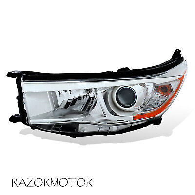 2014-2016 Replacement Driver Headlight For Toyota Highlander W/ Bulb + Socket