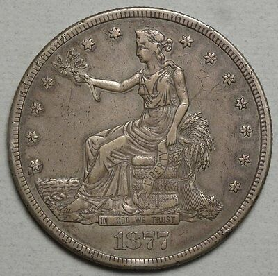 1877-S Trade Dollar, Almost Uncirculated, Classic Type Coin   0502-02