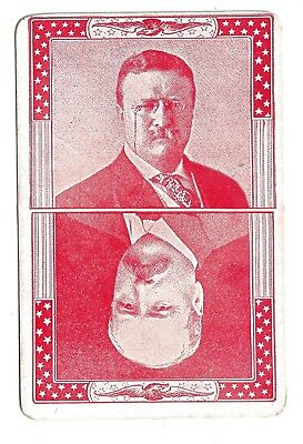 1904 Card with Theodore Roosevelt and Alton Parker on it Part of a Kids Game