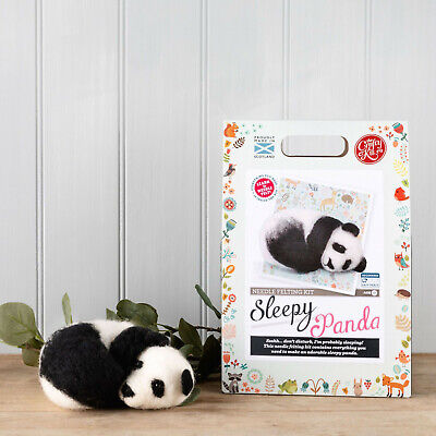 Sleepy Panda Needle Felting Kit by The Crafty Kit Company