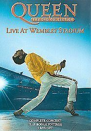 Queen The DVD Collection Live At Wembley Stadium DVD 2 Disc Set OOP RARE MUSIC