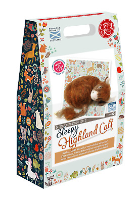 Highland Calf Needle Felting Kit by The Crafty Kit Company