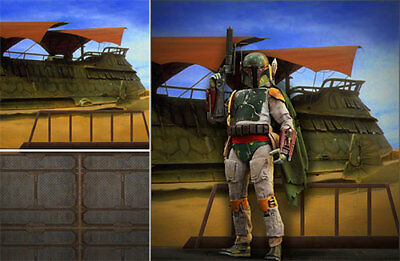 Poster Backdrop Ships Rolled~Star Wars~Sarlacc For 1/6 Hot Toys Boba Fett Mms312