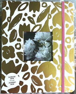 """**7.5""""x9.5"""" Kate Spade large Planner Golden 2 Gold foil stickers Aug 18 - Aug 19"""