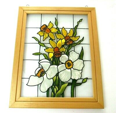 Open Windows Salido Colorado Stained Glass Hanging Frame Wall Art