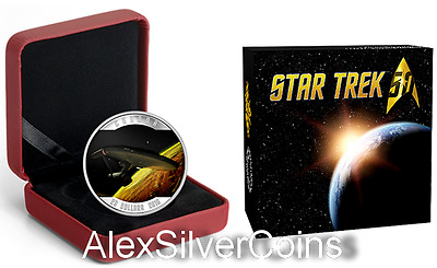 Canada $20 1 oz. Pure 99,99% Silver Coloured Coin– Star TrekTM Enterprise (2016)