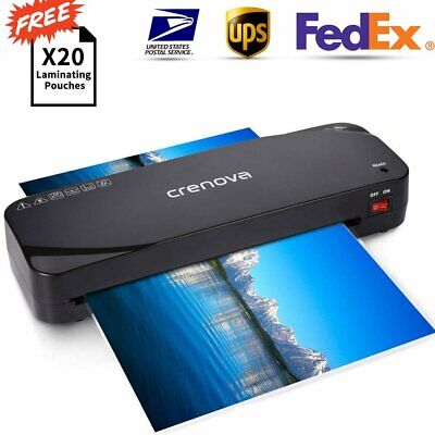 Crenova A4 Thermal Laminator Machine + 20 Laminating Pouches  for Home Office