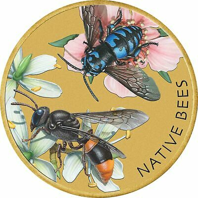 Native Bees 2019 $1 Stamp & Coin Cover