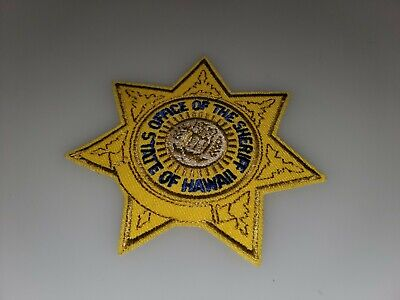 SHOULDER IRON ON PATCH STATE OF HAWAII SHERIFF/'S DEPT