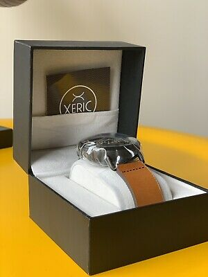 NEW Xeric Black Halograph Automatic Limited Edition With Leather Tan Strap