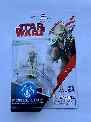 Disney Hasbro Star Wars Force Link Jedi Master Yoda Lightsaber 3.75