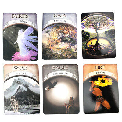 48-card Magic Oracle Cards Game Earth Magic Read Fate Tarot Deck Set Kit v6c
