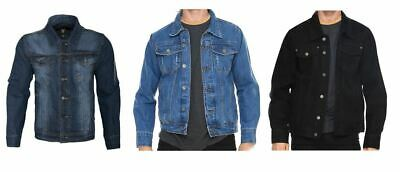 Hawks Bay Men's Denim Jean Jacket Classic Fit Casual Outerwear Jeans Cotton