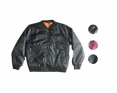 Hawks Bay Men's Everyday Modern Bomber Flight Jacket W/ Front Pockets