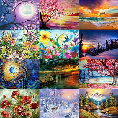 5D DIY Full Drill Diamond Painting Scenery Cross Stitch Embroidery Mosaic Decor