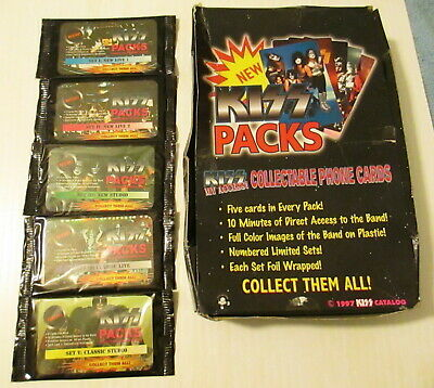 Kiss Very Rare Phone Card Set sealed packs 1 - 5 make a complete Mint Set of 25
