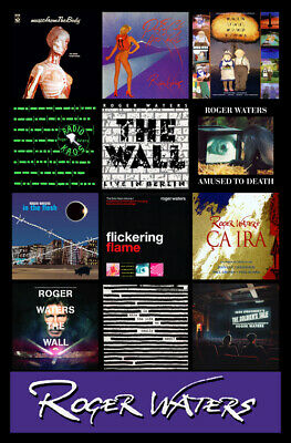 """ROGER WATERS album discography magnet (3.5"""" x 4.75"""") pink floyd"""