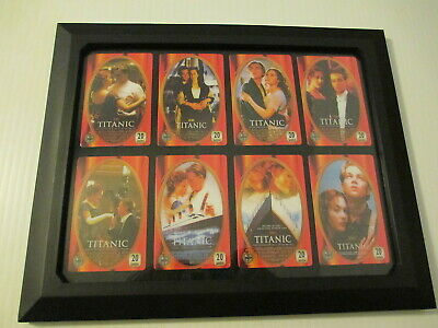 Titanic Phone Card Set in Frame 8 Cards removable see Description