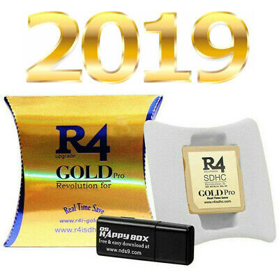 2019 R4 Gold Pro SDHC For DS/3DS/2DS/ Revolution Cartridge With USB Adapter+ SD