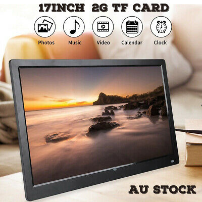 2G Card +17'' HD 1080P LED Digital Photo Picture Frame MP4 Player Remote Control