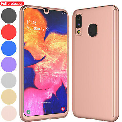 For Samsung Galaxy A50/A30/A20 Shockproof Slim Case 360 Cover + Screen Protector