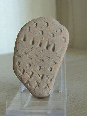 Antique Assyryan Style Clay Tablet Fragment With Cuneiform Grafitti,Scriptures