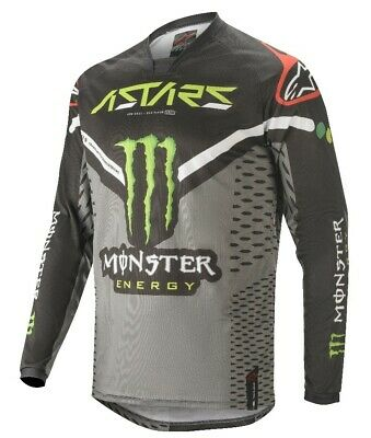 Alpinestars Racer Raptor Monster Energy Black Green Motocross Race Jersey Adults