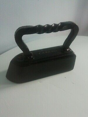 Antique Carroll 10 lb Cast Iron Flat Sad Iron or Door Stop