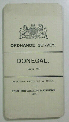 1899 Old OS Ordnance Survey Ireland One-Inch Second Edition Map 24 Donegal