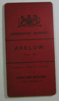1899 Old OS Ordnance Survey Ireland One-Inch Second Edition Map 139 Arklow