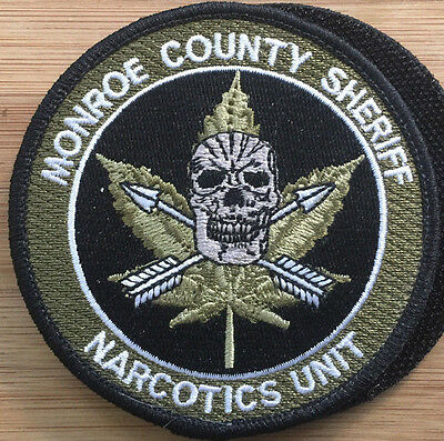 MCSO - MONROE County Sheriff's Office-NARCOTICS UNIT - Genuine *Kokopelli  Patch*