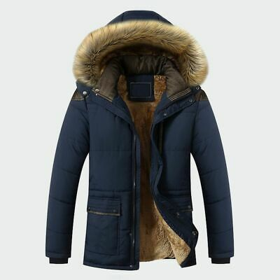 Winter Jacket Men Fashion Casual Slim Thick Warm Long Coats Parkas With Hood