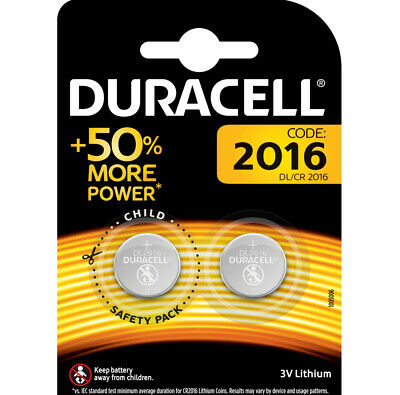 Duracell Battery Specialty CR2016 2 Pieces