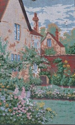 Large Unworked Printed Crosstitch 'The Secluded Garden' Anchor 50cm x 33cm