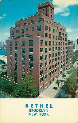 Bethel Home Watch Tower Society Jehovahs Witness Brooklyn NY New York Postcard