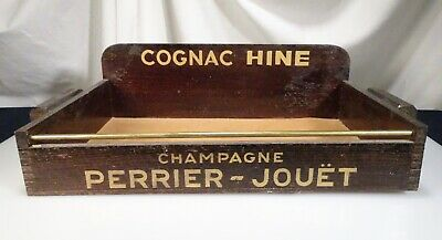 Vintage French Cigarette Girl Advertising Tray, Cognac Hine  -  57244