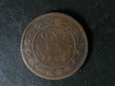 1 cent 1859/8 Wide 9 Canada large one copper penny coin Queen Victoria c ¢ G-6 B