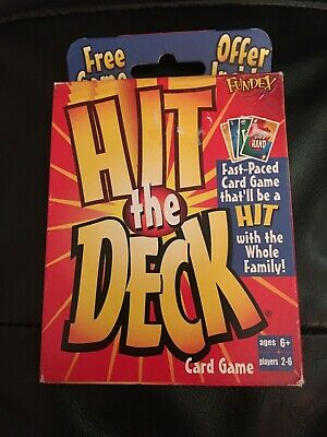 New Hit the Deck Card Game 2004 Fundex Instructions 2-6 Players 6+ Family Fun